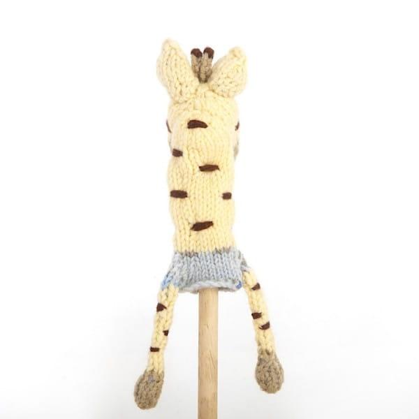 Gestrickte Fingerpuppen - Twza - Giraffe