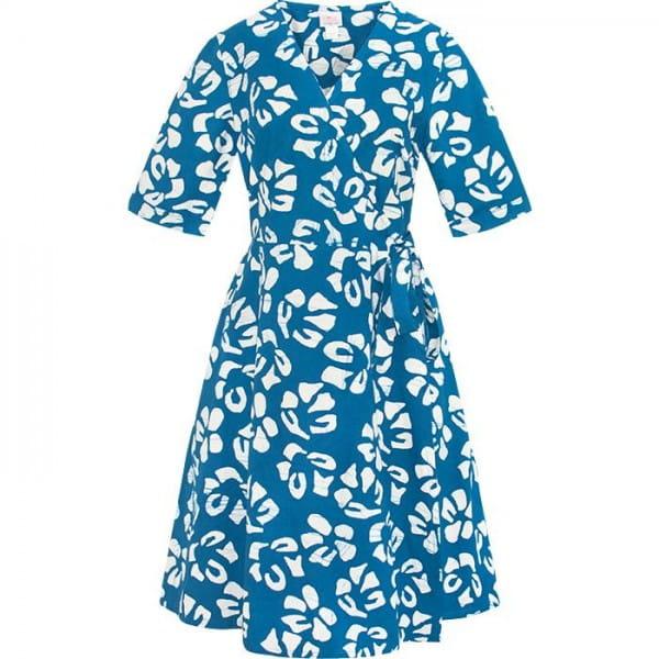Bio Kleid für Herbst und Winter Blau Weiss Baumwolle Global Mamas