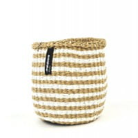 Kiondo Korb XS - Thin Stripes - Braun