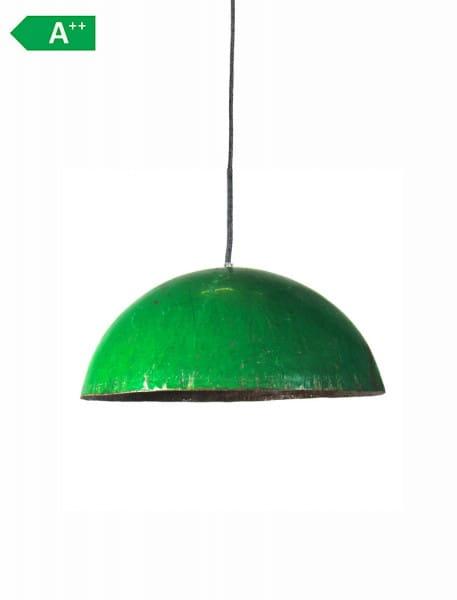 Upcycling Deckenlampe - Ölfass L - Grün