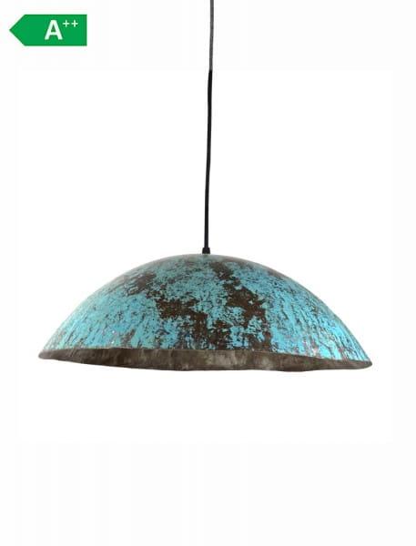 Upcycling Deckenlampe - Ölfass L - Türkis