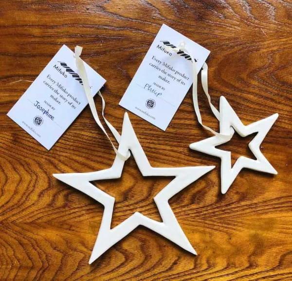 Mifuko Christmas Stars White ceramic
