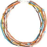 Glasperlen Halskette Rainbow Desert Global Mamas Fair Trade