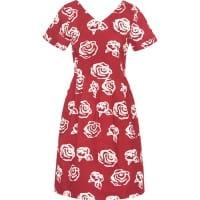 Verona Dress - Roses Red - Rot