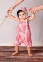 Bio Baby Strampler - Blumengarten - Pink