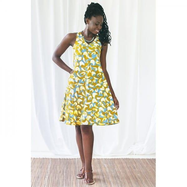 Sommerkleider aus Bio Baumwolle Gelb