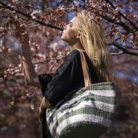 Kiondo Tasche M - Stripes - Hellgrün