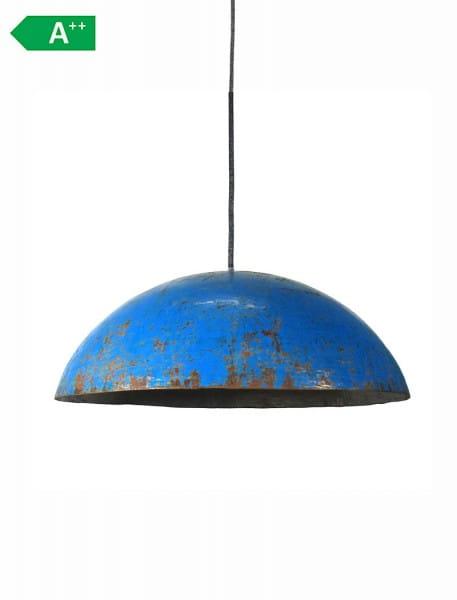 Upcycling Deckenlampe - Ölfass L - Blau