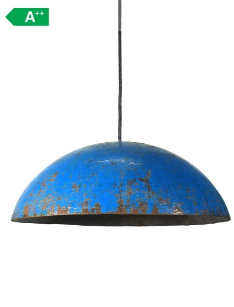 Ölfass Deckenlampe Blau