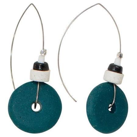 Afrika Ohrringe Blau Grün Perlen