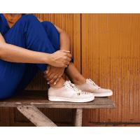 African Fair Trade Sneaker - Sahara Pastell F