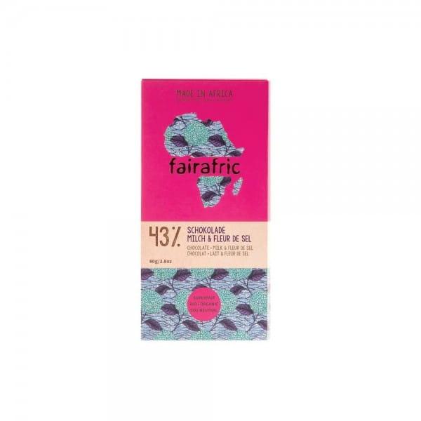 Fairafric Bio Schokolade Fleur de Sel Meersalz 43%