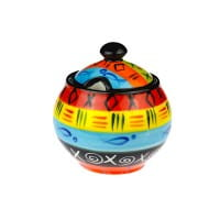 Kapula Keramik - Zuckerdose - Multicoloured