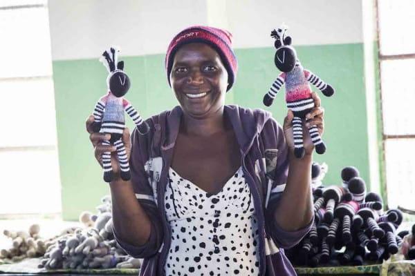 Zebra Kuscheltier - Mbizi - Jumbo XXL