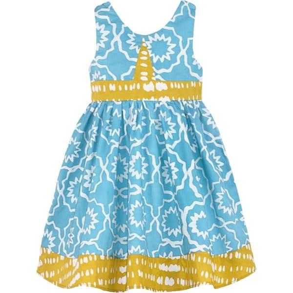Girls Twirl Dress - Chroma Sky Blue