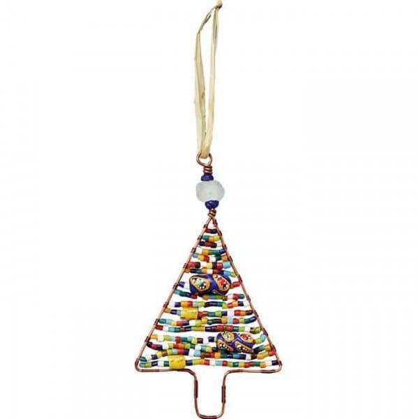 Perlenanhänger Baum - Rainbow Groß - Upcycling