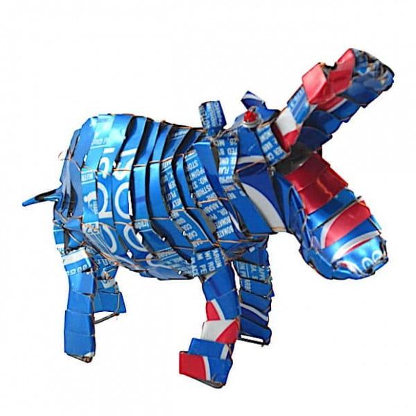 Nilpferd - Recycling Blechtiere - M