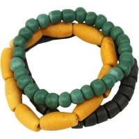 Recycling Armband Manye Global Mamas Gelb Mustard Glasperlen