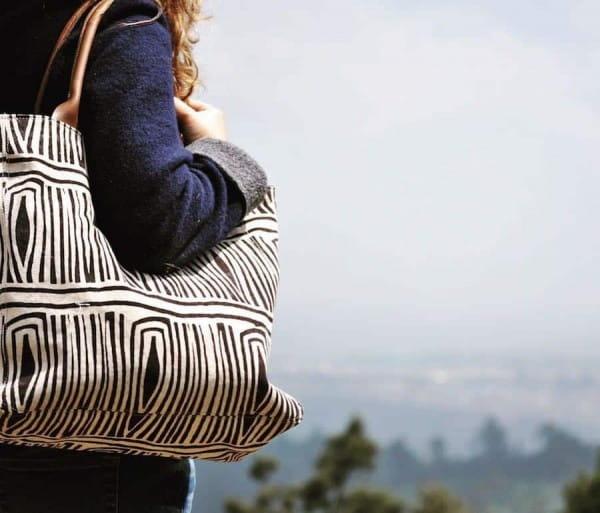 African Tote Bags - Safari - Tukul Brown