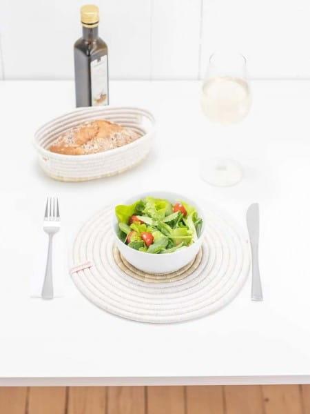 nachhaltige Tischsets Platzsets rund abwaschbar