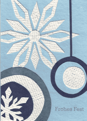 Recycling Weihnachtskarte - Snowflake