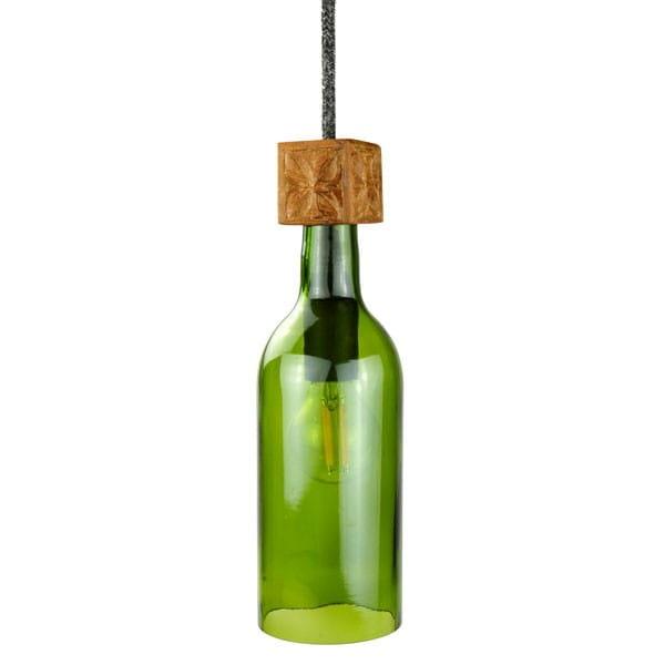 Lampe Weinflasche - Bottle Grün - Nur Lampenschirm