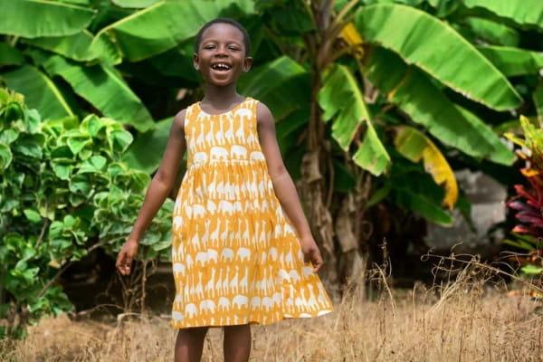 Girls Sundress - Sahara Mustard